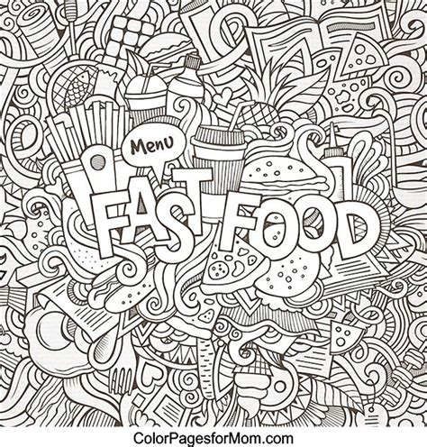 coloring pages for adults food doodles 41 advanced coloring pages