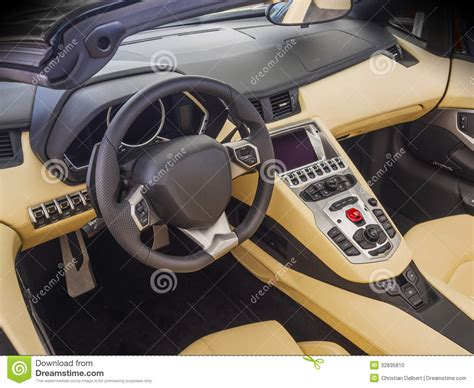 Sports Car Interior by Sports Car Interior Stock Photo Image 32835810