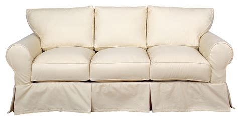 dilworth slipcovered three cushion sofa