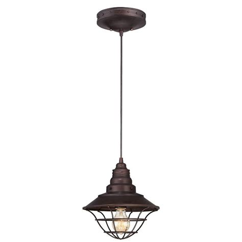 Small Pendant Light Westinghouse 1 Light Rubbed Bronze Adjustable Mini