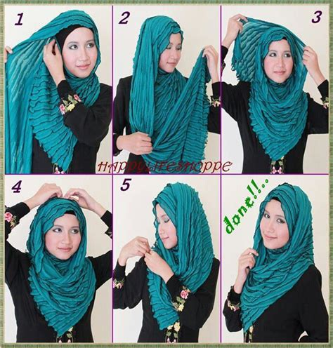 tutorial hijab pashmina kaos 17 best images about hijab tutorial step by step on