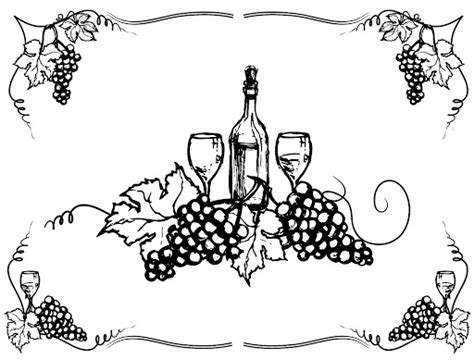 Wine Bottle Grapes And Coloring Pages Coloring Pages Wine Bottle Coloring Pages