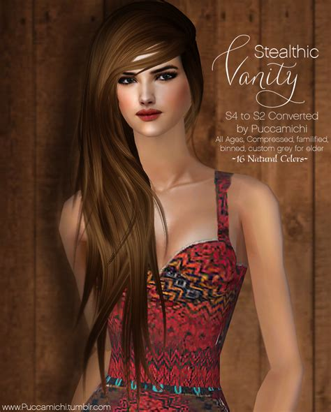 vanity female hair by stealthic at tsr sims 4 updates stealthic vanity female hair all ages binned