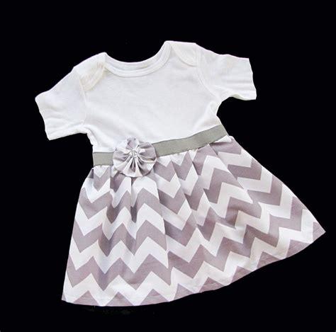 grey pattern onesie sew a skirt onto a onesie boutique baby chevron onesie