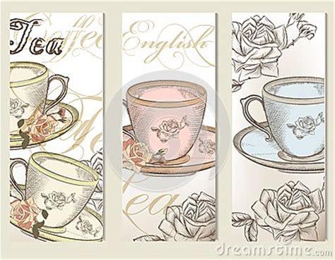 imagenes vintage te el vector del folleto fij 243 con las tazas del vintage de t 233