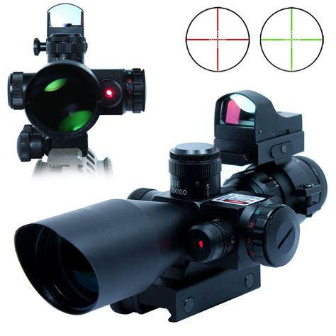 Sale Tactical Rifle Scope Sniper Rd35 Dot Green Dot Sight Airsoft aliexpress buy 2 5 10x40 riflescopes
