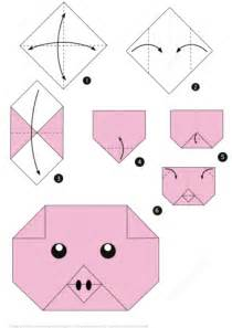 Easy Origami Pig - how to make an origami pig free