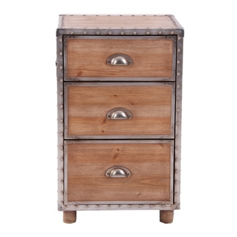 Vintage Style Drawers by Pine And Aluminium Vintage Style Set Of Drawers Shane