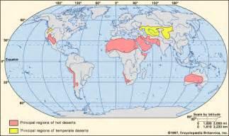 World Map Deserts by Gallery For Gt World Desert Map
