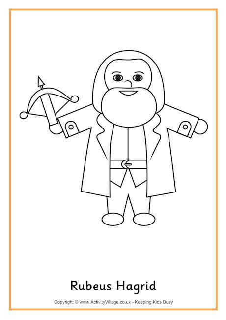 harry potter hagrid coloring pages hagrid colouring page