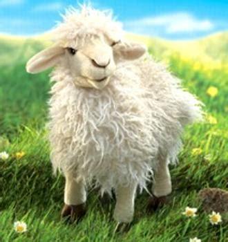 wooly sheep puppet large longwool  anwo animal world
