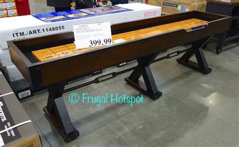 shuffleboard tables for sale costco costco industrial shuffleboard table 399 99 frugal hotspot