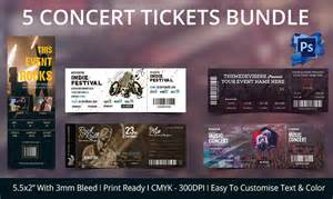Concert Ticket Templates by Ticket Template 91 Free Word Excel Pdf Psd Eps