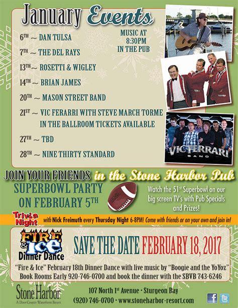 Door County Calendar Of Events by Dan Tulsa At Harbor Door County Lodging Resorts