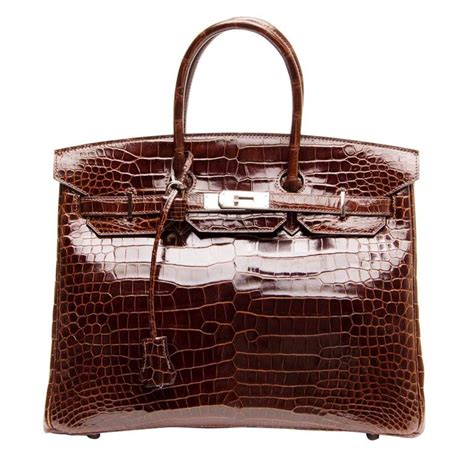 Croco String Rotelli Shoulder Bag herm 232 s birkin brown shiny croco bag 35 cm for sale at 1stdibs