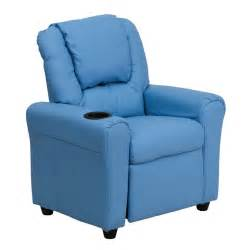 light blue recliner light blue kids recliner with cup holder and headrest from