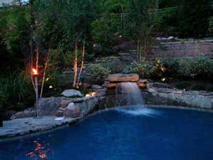 landscape lighting around pool pool landscape lighting ideas