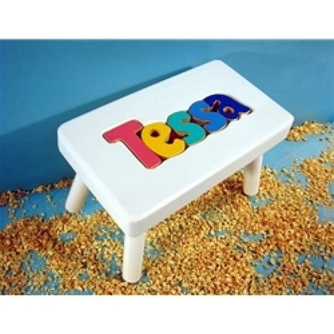 Personalized Stools by Personalized Name Puzzle Stool