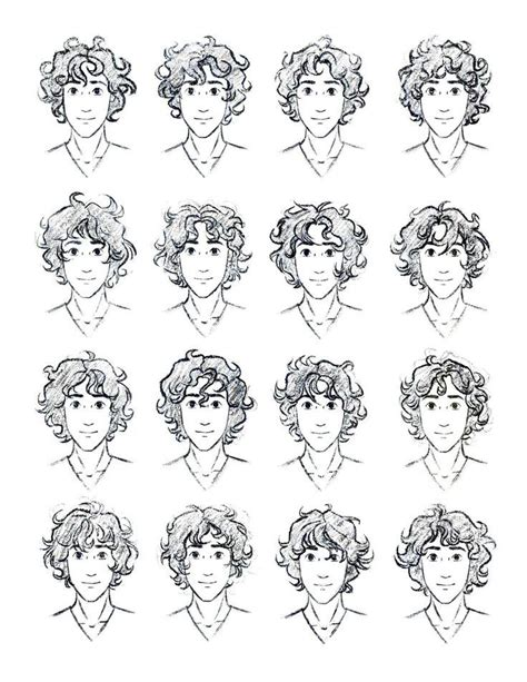 drawing 6 boy hairstyles by marryrdbsongs youtube how to draw curly hair male szukaj w google sketches