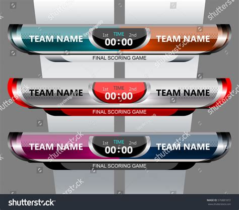 scoreboard broadcast graphic template soccer football
