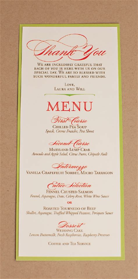 nico and lala wedding reception menu cards - Menu Cards For Wedding Reception