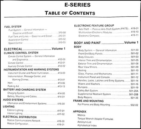old car repair manuals 2010 ford e series electronic valve timing 2010 ford econoline repair shop manual original set e150 e250 e350