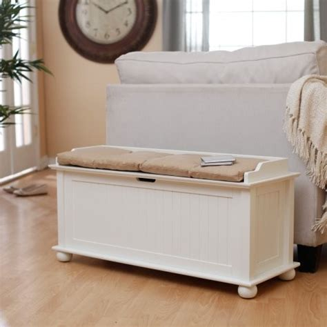 traditional flip top storage bench vanilla