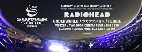 charlie puth osaka summer sonic 2016 first artist announcement with radiohead