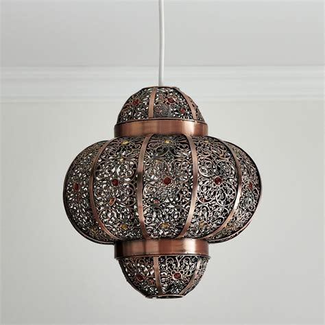Moroccan Style Lamp by Vintage Large Rustic Bronze Metal Moroccan Light Shade