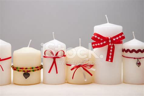 how to decorate a candle background with decorated candles stock photos