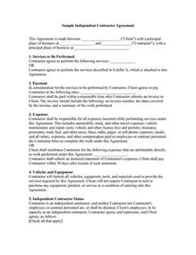 Simple Contractor Agreement Template by 50 Free Independent Contractor Agreement Forms Templates