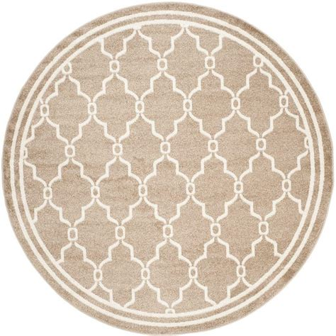 Safavieh Amherst Wheat Beige 7 Ft X 7 Ft Indoor Outdoor 7 Ft Rug