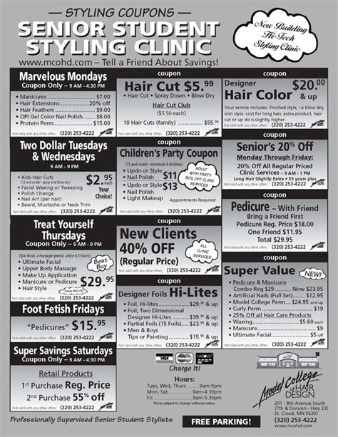 haircut coupons st cloud mn model college of hair design coupons