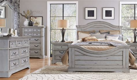 gray bedroom set stonebrook antique gray panel bedroom set from american woodcrafters coleman furniture