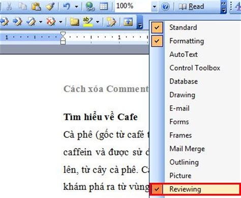 how to remove word comment and section in 2013 2010
