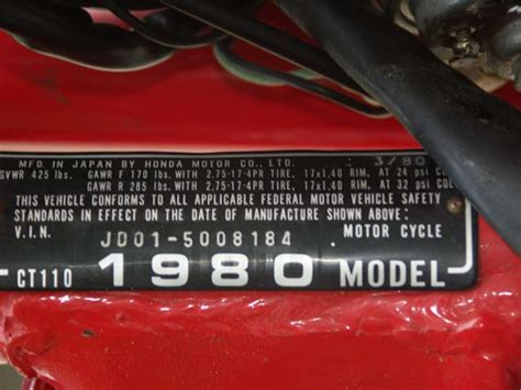 Ducati Vin Sticker by 1980 Honda Ct110 Trail Sold October 2008 In Virginia 1600