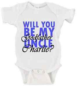 will you be my godparents onesie custom will you be my godfather name onesie baby godparents boy