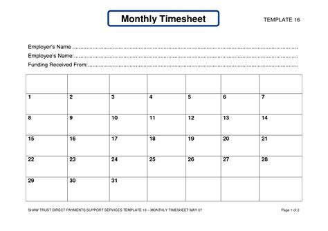 employee time card template free weekly free monthly timesheet template it resume cover letter