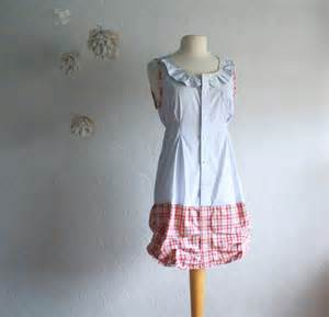 women s clothing shabby chic dress blue red plaid by