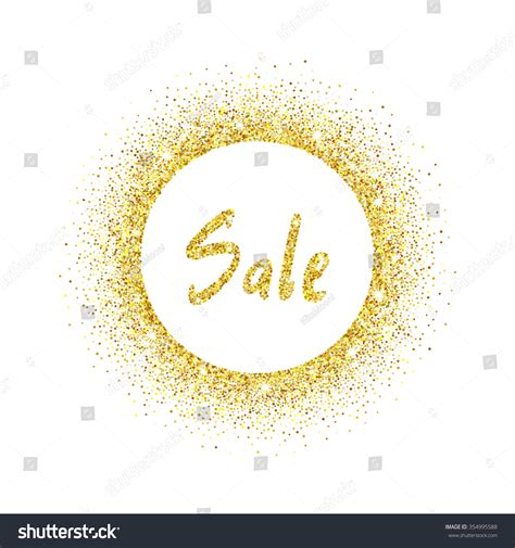 Sale Gliter gold glitter background with text sale template for