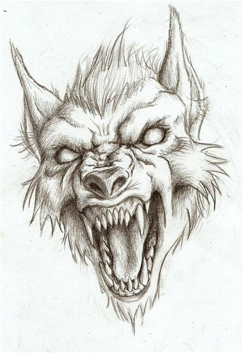 werewolf head tutorial drawn wolf werewolf pencil and in color drawn wolf werewolf