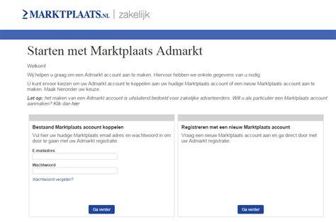 open marktplaats open een admarkt account 2dehands be zakelijk
