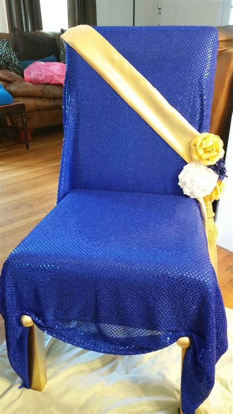 royal blue and gold baby shower chair royal baby shower diy throne chair pinteres