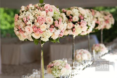 Garden Wedding Flowers Garden Wedding Flowers Pink Ivory Topiaries Onewed