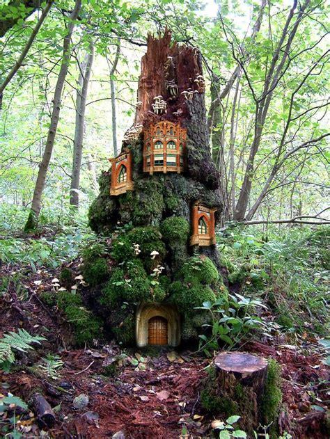 fairy homes fairy tree house dollhouse pinterest