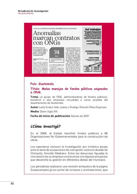 guia practica para una 47110857 periodismo de investigacion una guia practica