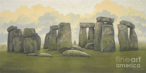 stonehenge green painting by marte thompson
