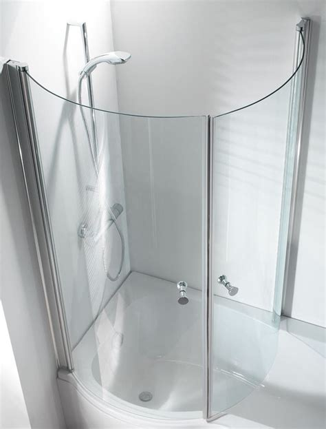 curved shower screen for p shaped bath trojan 1675 mm zeya p shaped shower bath inc panel 2