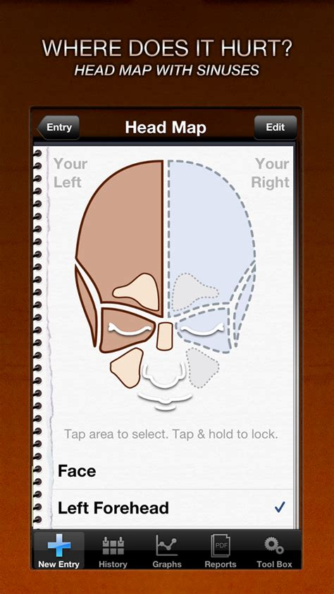 headache migraine tracker  iphone  ipod touch