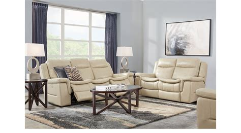 5 Pc Living Room Set 1 977 00 Beige 5 Pc Leather Living Room Classic Contemporary